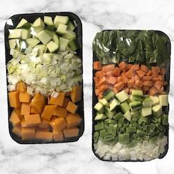 Bandejas de verduras