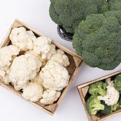 Coles y brócolis